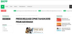 Jadwal dan Lokasi Tes SKD CPNS Kabupaten Demak 2018
