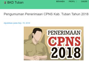 Pengumuman Hasil Tes SKD CPNS Kabupaten Tuban 2018