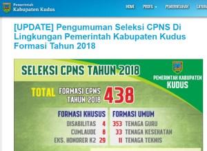 Jadwal dan Lokasi Tes SKD CPNS Kabupaten Kudus 2018