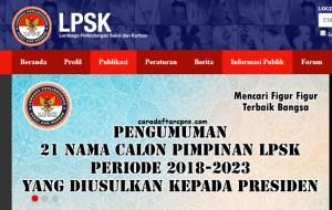 Pengumuman Hasil Tes Kompetensi Dasar SKD CPNS LPSK 2018