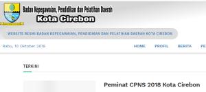 Hasil Akhir Seleksi CPNS Kabupaten Cirebon 2018