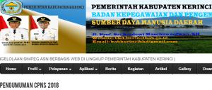 Hasil Akhir Seleksi Administrasi CPNS Kabupaten Kerinci 2018