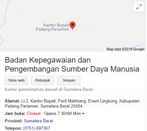 Pengumuman Hasil Tes SKD CPNS Kabupaten Padang Pariaman 2018