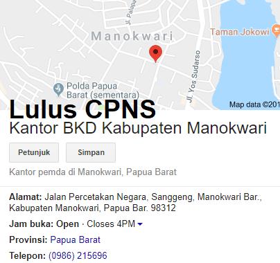 Pengumuman Hasil Tes Skd Cpns 2018 Kabupaten Manokwari