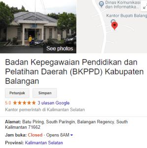 Pengumuman Hasil Tes SKD CPNS Kabupaten Balangan 2018