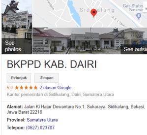 Pengumuman Hasil Tes SKD CPNS Kabupaten Dairi 2018