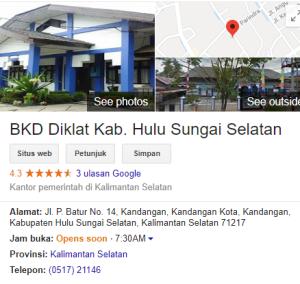 Pengumuman Hasil Tes SKD CPNS Kabupaten Hulu Sungai Selatan 2018