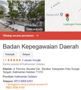 Pengumuman Hasil Tes SKD CPNS Kabupaten Hulu Sungai Tengah 2018