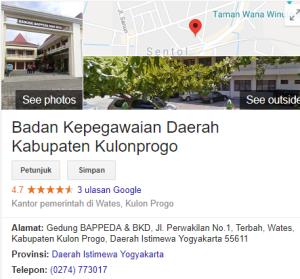 Pengumuman Hasil Tes SKD CPNS Kabupaten Kulonprogo 2018