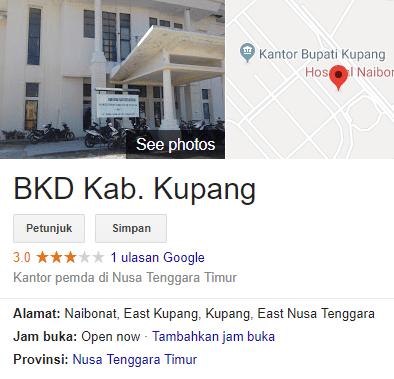 Pengumuman Hasil Tes Skd Cpns Kabupaten Kupang 2018