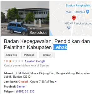 Pengumuman Hasil Tes SKD CPNS Kabupaten Lebak 2018