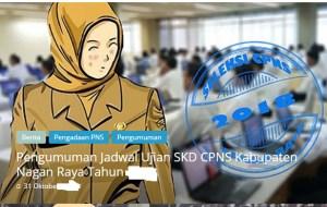 Pengumuman Hasil Tes SKD CPNS Kabupaten Nagan Raya 2018