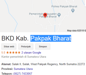 Hasil Akhir Seleksi CPNS Kabupaten Pakpak Bharat 2018