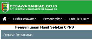 Pengumuman Hasil Tes SKD CPNS Kabupaten Pesawaran 2018