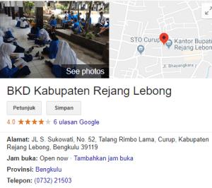 Pengumuman Hasil Tes SKD CPNS Kabupaten Rejang Lebong 2018