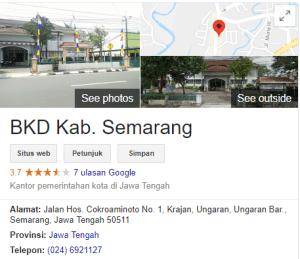 Pengumuman Hasil Tes SKD CPNS Kabupaten Semarang 2018