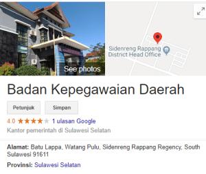 Pengumuman Hasil Tes SKD CPNS 2018 Kabupaten Sidenreang Rappang