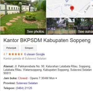 Pengumuman Hasil Tes SKD CPNS 2018 Kabupaten Soppeng