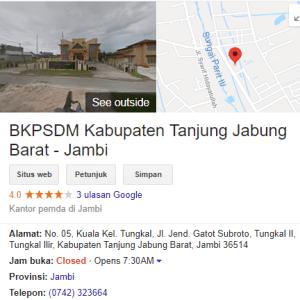 Pengumuman Hasil Tes SKD CPNS Kabupaten Tanjung Jabung Barat 2018