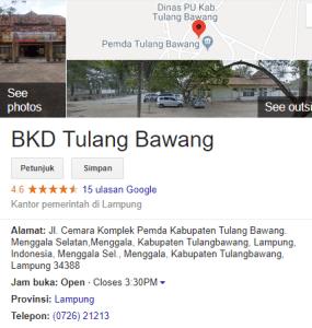 Pengumuman Hasil Tes SKD CPNS Kabupaten Tulang Bawang 2018