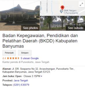 Pengumuman Hasil Tes SKD CPNS Kabupaten Banyumas 2018
