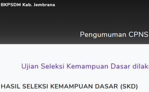 Pengumuman Hasil Tes SKD CPNS Kabupaten Jembrana 2018