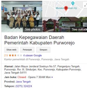 Pengumuman Hasil Tes SKD CPNS Kabupaten Purworejo 2018