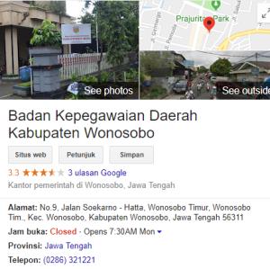 Pengumuman Hasil Tes SKD CPNS Kabupaten Wonosobo 2018