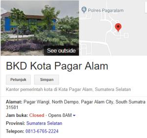Pengumuman Hasil Tes SKD CPNS Kota Pagar Alam 2018