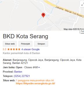 Pengumuman Hasil Tes SKD CAT CPNS Kota Serang 2018