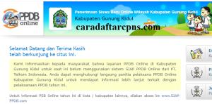 Pendaftaran PPDB Online SMA Kabupaten Gunung Kidul 2019 2020