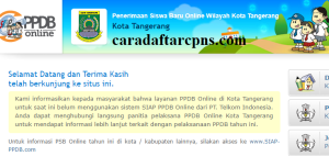 Jadwal Pendaftaran PPDB SMA Kota Tangerang 2020 2021