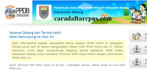 Pengumuman Hasil PPDB SMA SMK Negeri Kabupaten Batang 2020 2021