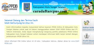 PPDB SMP Kabupaten Hulu Sungai Selatan