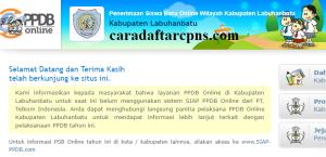 Jadwal Pendaftaran PPDB SMP Kab Labuhanbatu 2020 2021