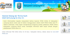 PPDB SMP Kabupaten Lampung Barat