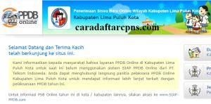 Jadwal PPDB SMA SMK Negeri Kab Limapuluh Kota 2020 2021
