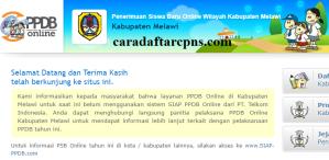Jadwal PPDB SMA SMK Negeri Kab Melawi 2020 2021