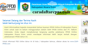 Jadwal PPDB SMA SMK Negeri Kab Muara Enim 2020 2021