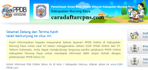 PPDB SMP Kabupaten Murung Raya