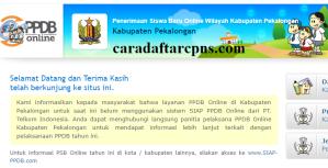 Pendaftaran PPDB Online SMA Kabupaten Pekalongan 2019 2020