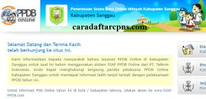 Jadwal PPDB SMA SMK Negeri Kab Sanggau 2020 2021
