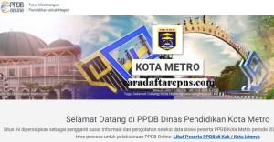 Jadwal Pendaftaran PPDB SMA Kota Metro 2020 2021