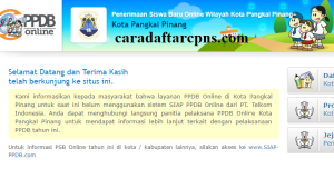 Jadwal Pendaftaran PPDB SMA Kota Pangkal Pinang 2020 2021