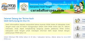 Jadwal PPDB SMP Kabupaten Aceh Tengah
