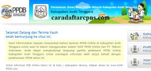 Jadwal PPDB SMP Kabupaten Aceh Tenggara