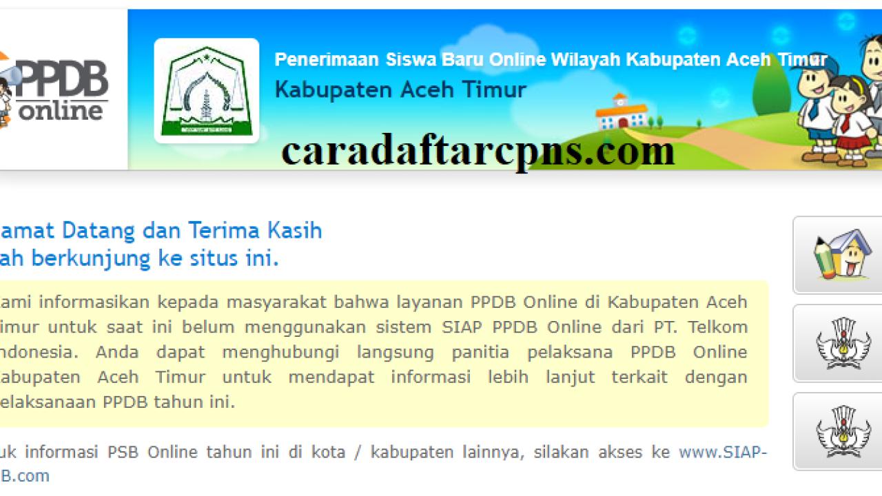 Pendaftaran Ppdb Online Smp Kabupaten Aceh Timur 2019
