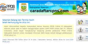 PPDB SMP Kabupaten Keerom