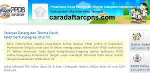 Jadwal Pendaftaran PPDB SMP Negeri 2020/2021 Kab Mamberamo Tengah