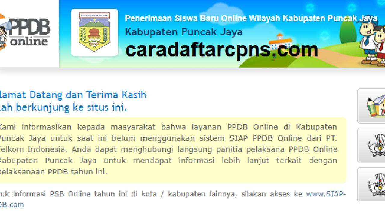 Pendaftaran Ppdb Online Sma Kabupaten Puncak Jaya 2019 2020 Smk
